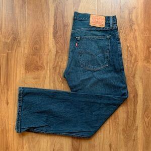 Mens Levis 514 Medium Wash Jeans